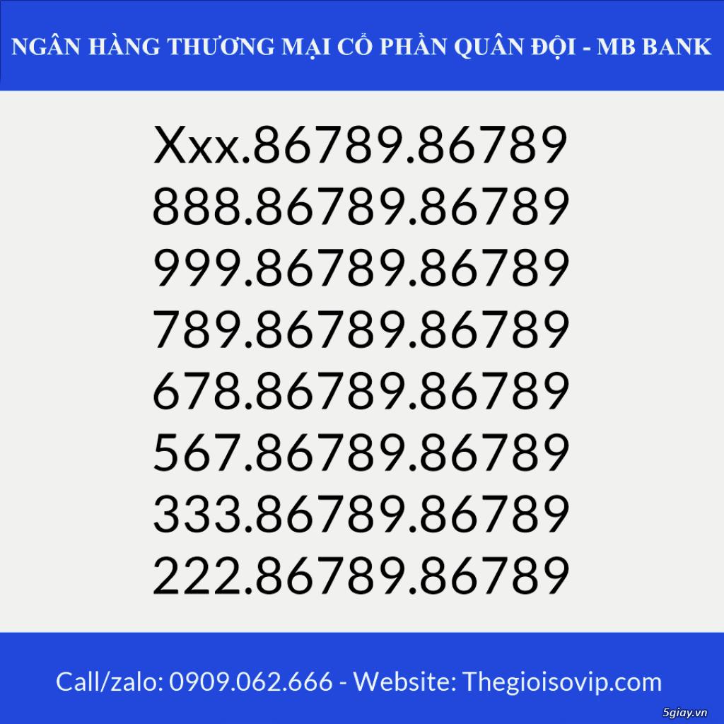Tài khoản ngân hàng số đẹp vip mbbank ngân hàng quân đội - 10