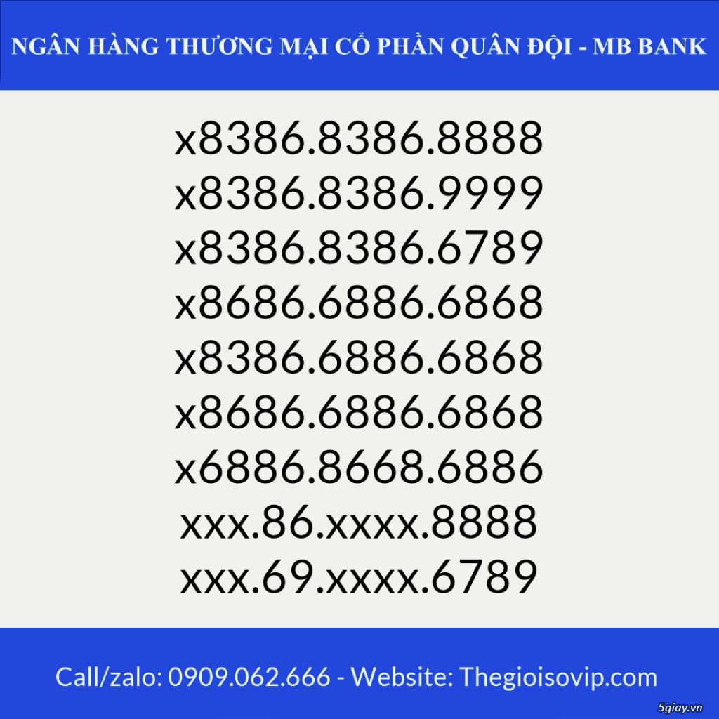 Tài khoản ngân hàng số đẹp vip mbbank ngân hàng quân đội - 8