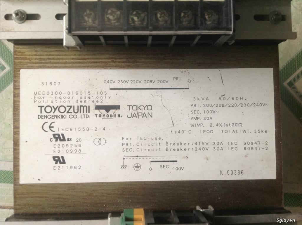 Biến áp cách ly Nhật 500VA -10KVA, lọc nguồn âm thanh..... - 13
