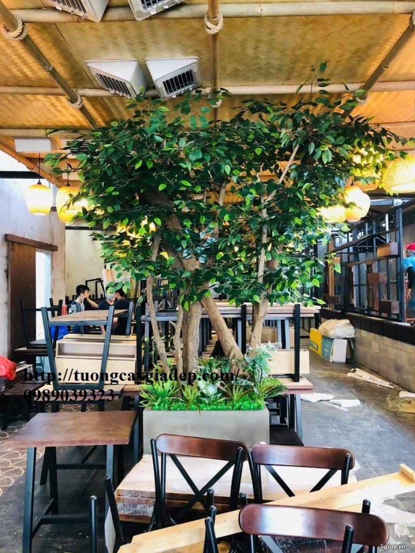 Trang trí cửa hàng bằng cây giả cực đẹp - 6