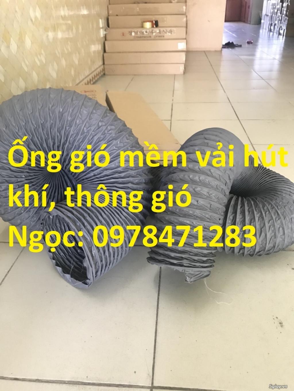 Bán ống gió mềm vải, ống vải phi 300, phi 400, phi 500 thông gió - 3