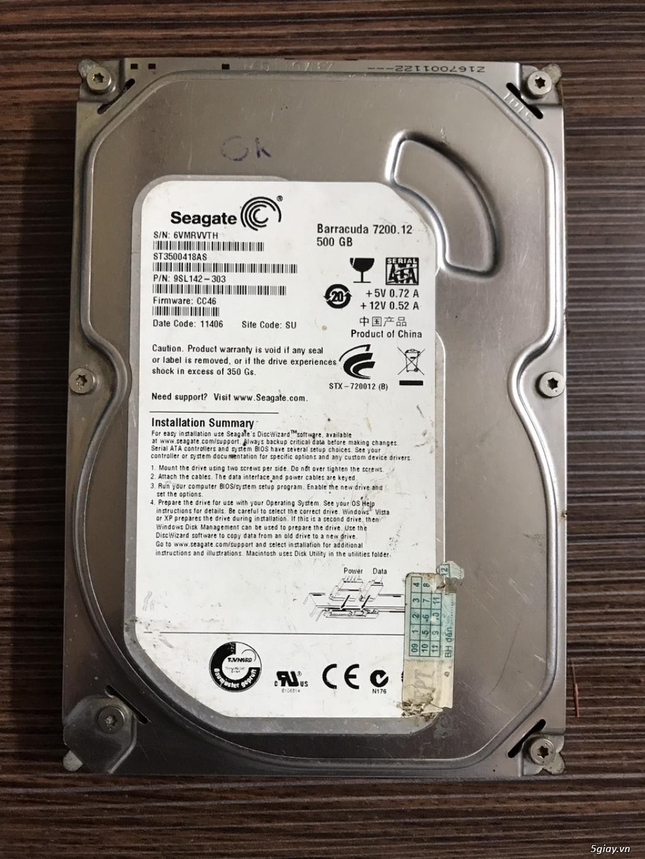 Thanh lý HDD máy bàn 500GB Seagate loại mỏng nhẹ - 1