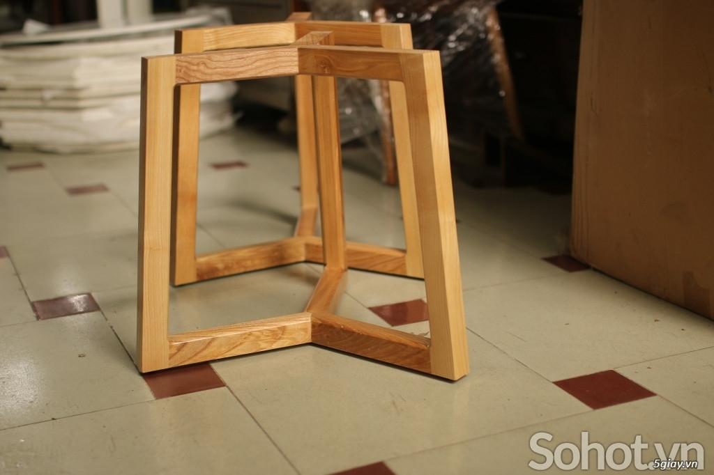 Chân bàn trà sofa gỗ Ash