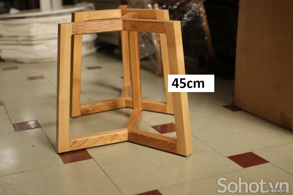 Chân bàn trà sofa gỗ Ash - 1