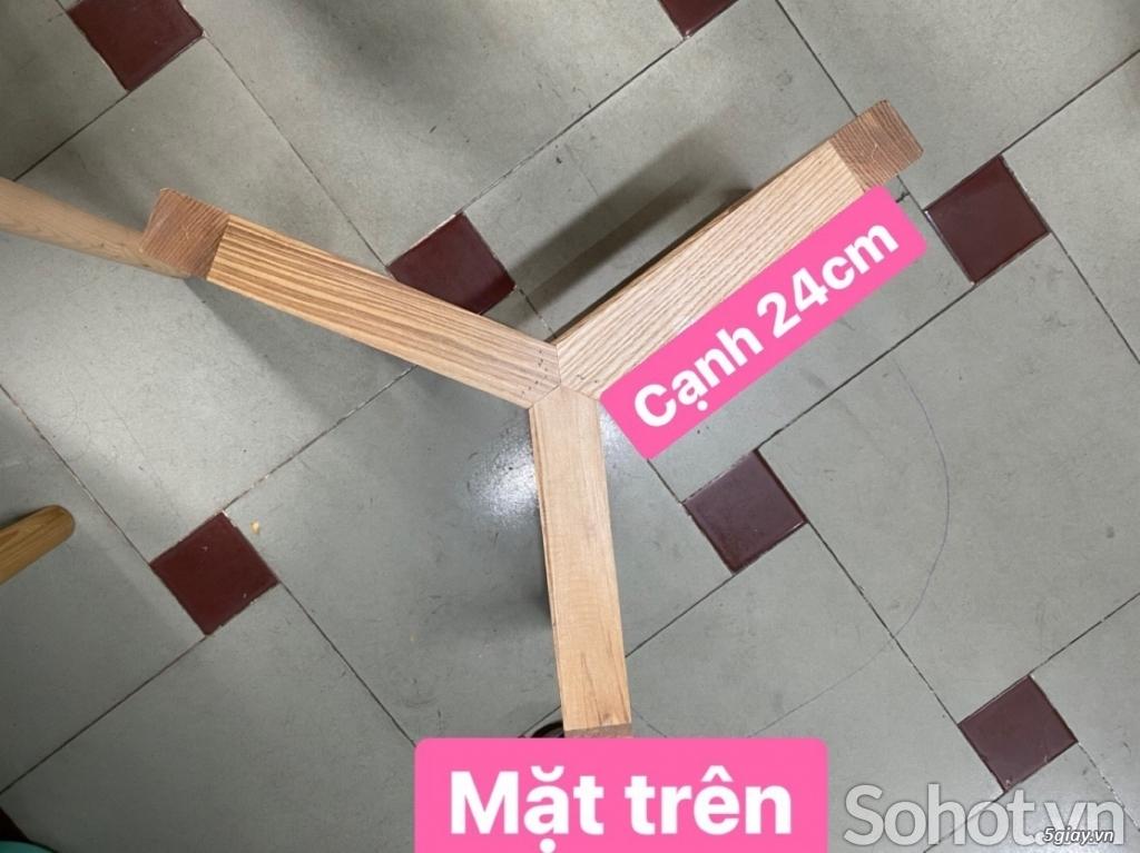 Chân bàn trà sofa gỗ Ash - 2
