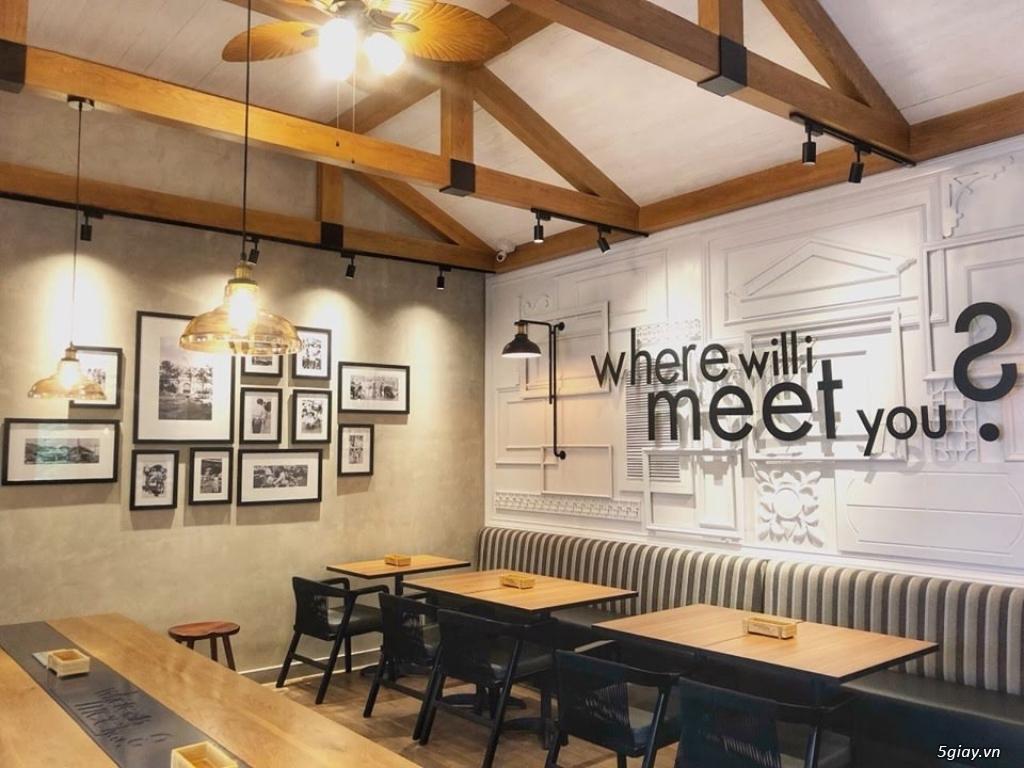 Thiết kế thi công trọn gói nội thất quán coffe sang trọng - đẳng cấp - 1