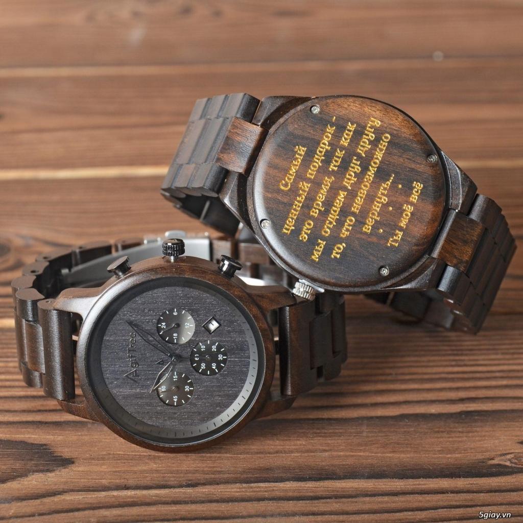 Chuyên đồng hồ Handmade gỗ đàn hương - HOT - 21