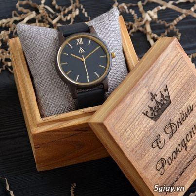 Chuyên đồng hồ Handmade gỗ đàn hương - HOT - 9
