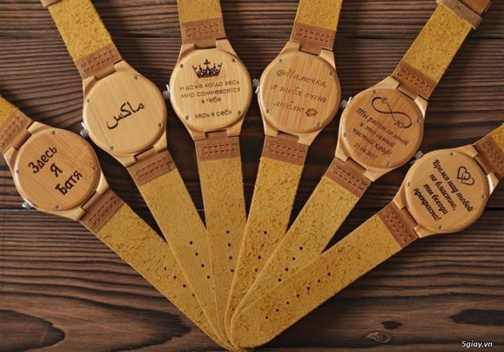 Chuyên đồng hồ Handmade gỗ đàn hương - HOT - 29