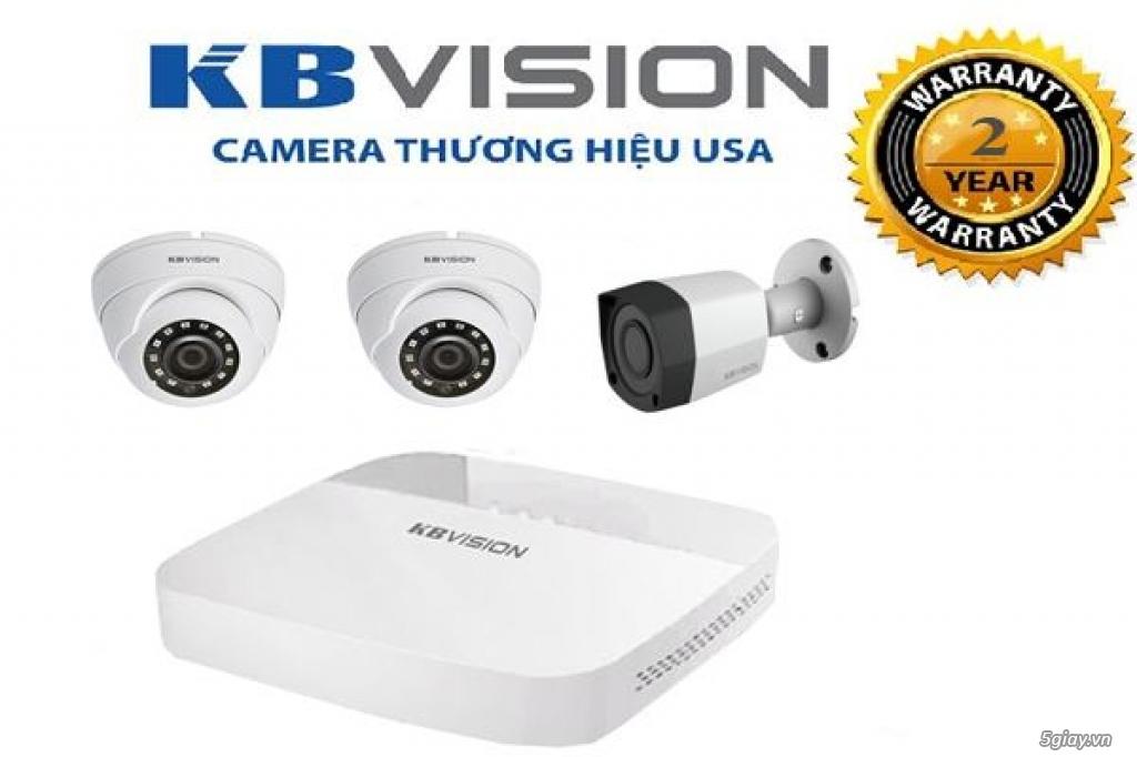 Lắp đặt trọn bộ 3 camera giám sát 2.0MP KBvision - 1