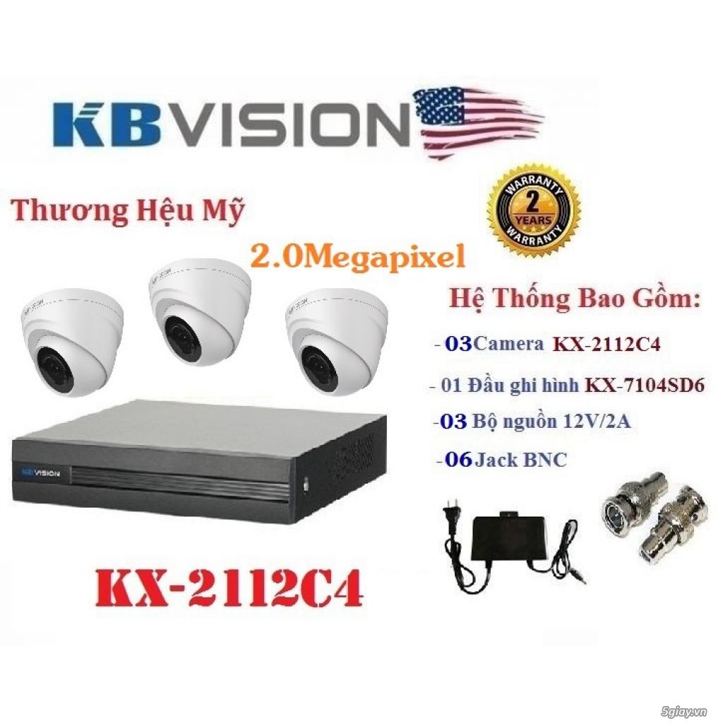 Lắp đặt trọn bộ 3 camera giám sát 2.0MP KBvision - 3