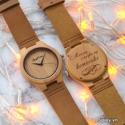 Đồng hồ gỗ đeo tay Phong Thủy hợp mệnh hút tài lộc