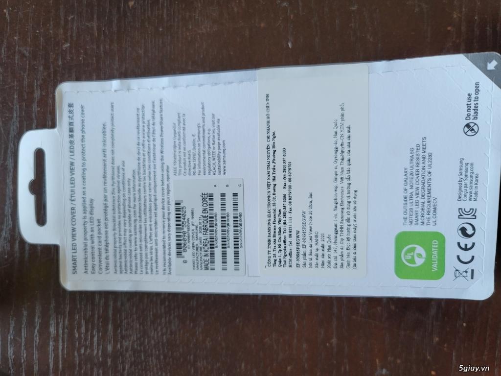 Cần bán lỗ: bao da Sart Led View Cover cho Note 20 / Note 20 Ultra