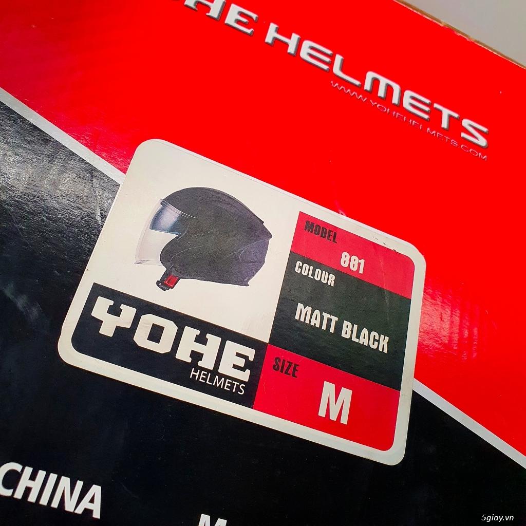 Ít dùng nên cần pass lại Mũ Bảo Hiểm 3/4 Yohe 881 mẫu 2 kính. - 11