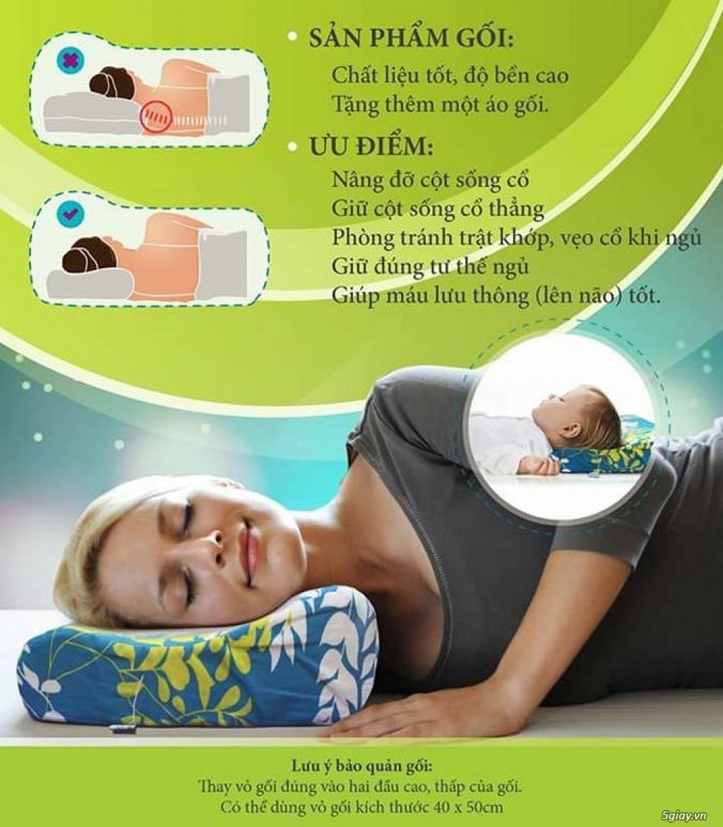Combo bộ 3 gối bảo vệ cột sống cổ, lưng, kê chân khi ngủ - 4