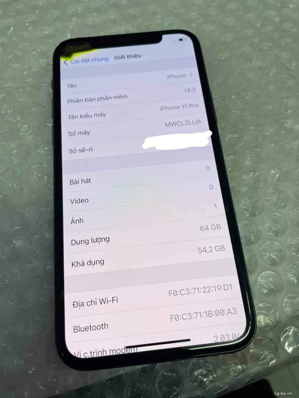 Cần bán Iphone 11 pro 64gb bản Mỹ - mất face id và hư 1 góc tai trái - 2