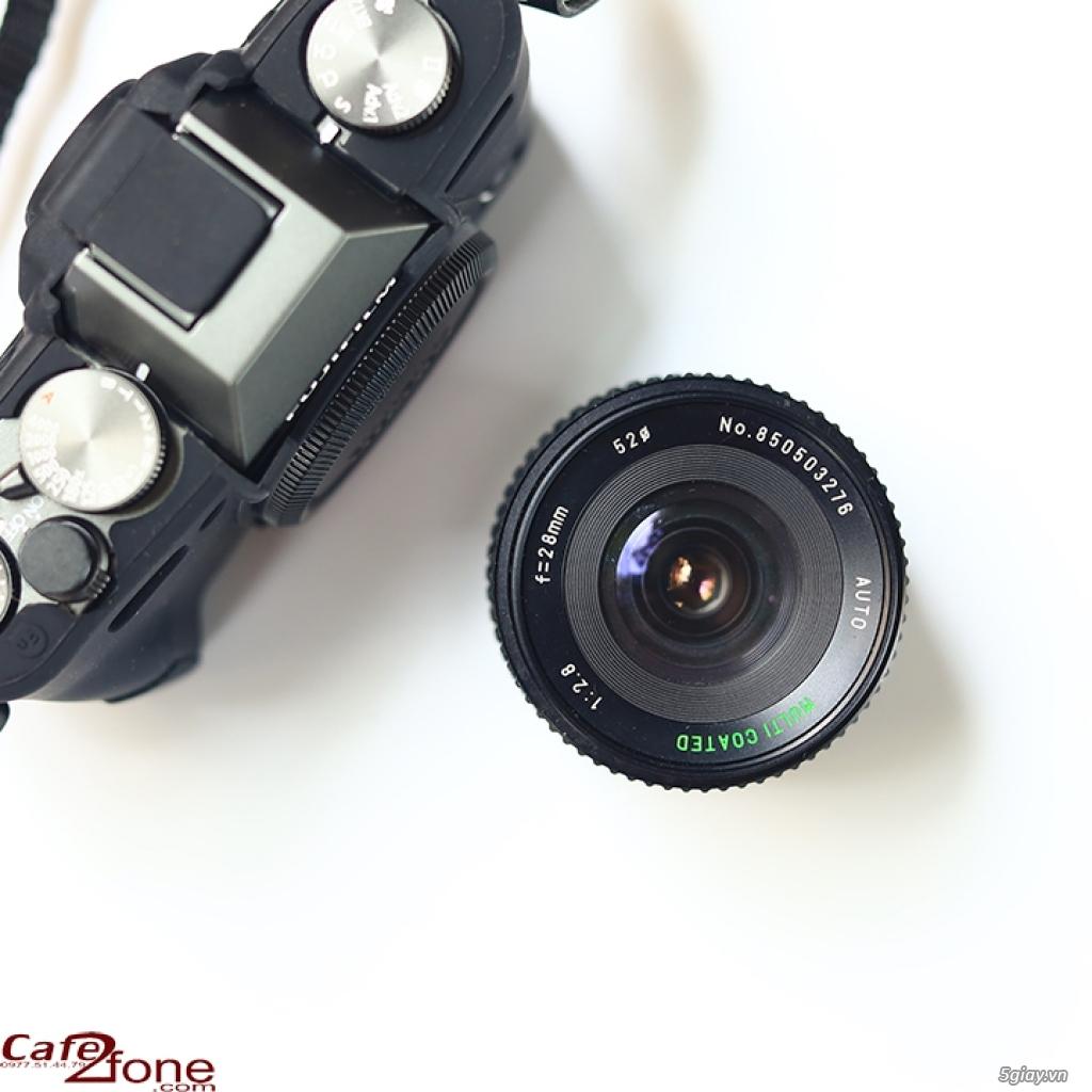 Lens MF Sears Auto Multicoated 28mm F2.8 ngàm PK. Ống kính máy film - 3