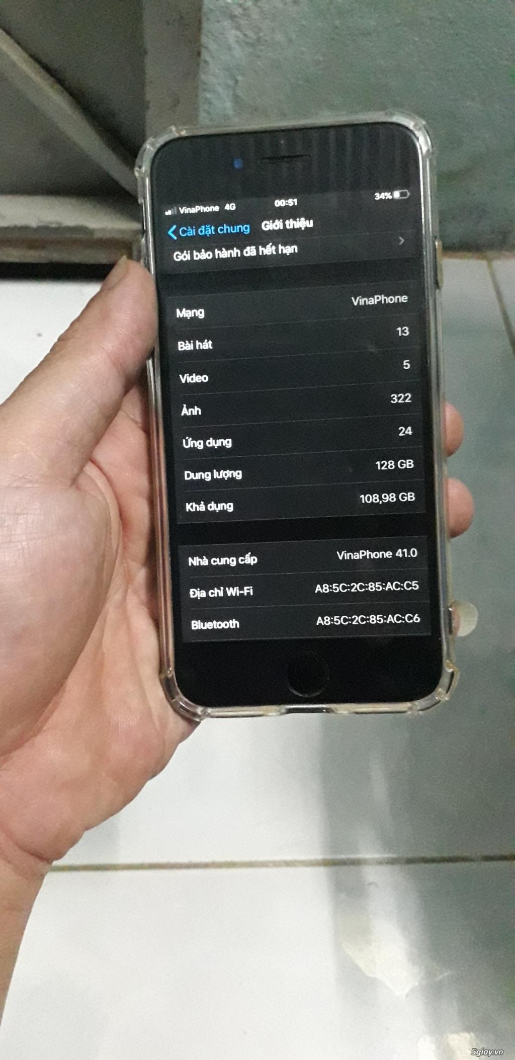 Bán Iphone 7 128G vân tay nhạy máy quốc tế zin - 4