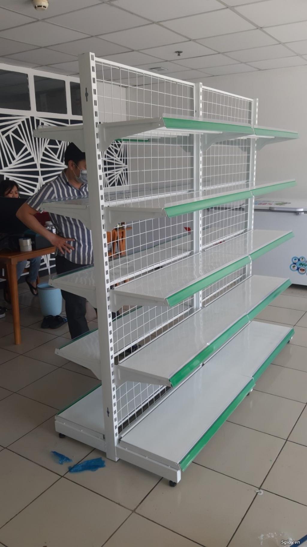 Kệ siêu thị đôi lưng lưới hàng mới có sẵn tại Kho - 4