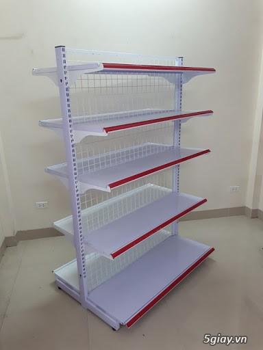 Kệ siêu thị đôi lưng lưới hàng mới có sẵn tại Kho