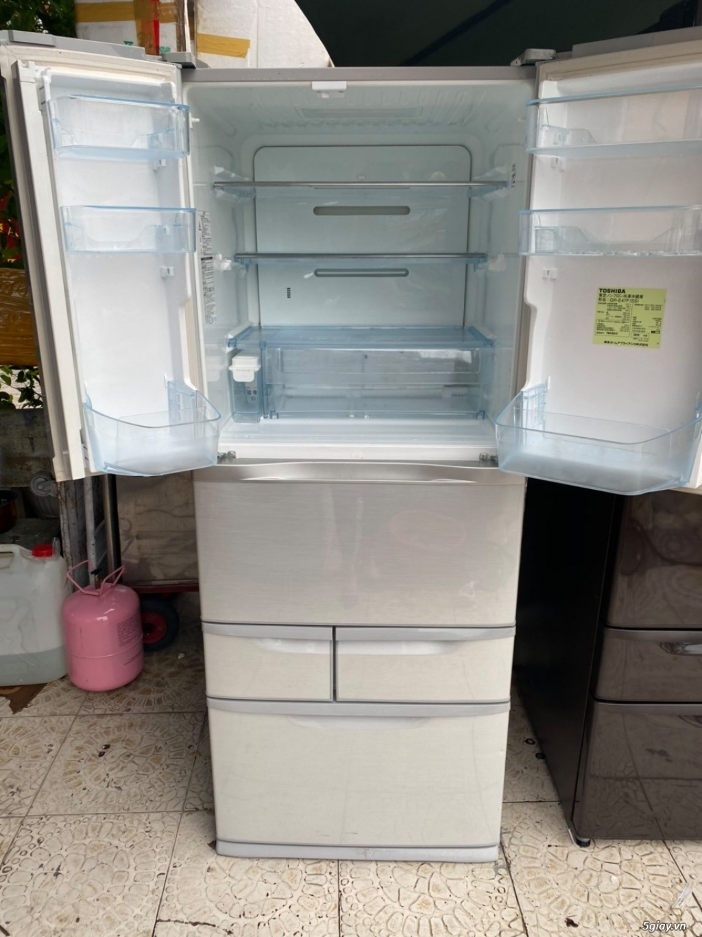 Tủ lạnh 6 cánh nội địa Nhật TOSHIBA GR-E47F date 2012 - 12