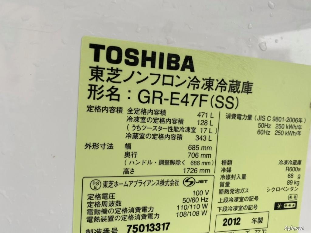 Tủ lạnh 6 cánh nội địa Nhật TOSHIBA GR-E47F date 2012 - 15