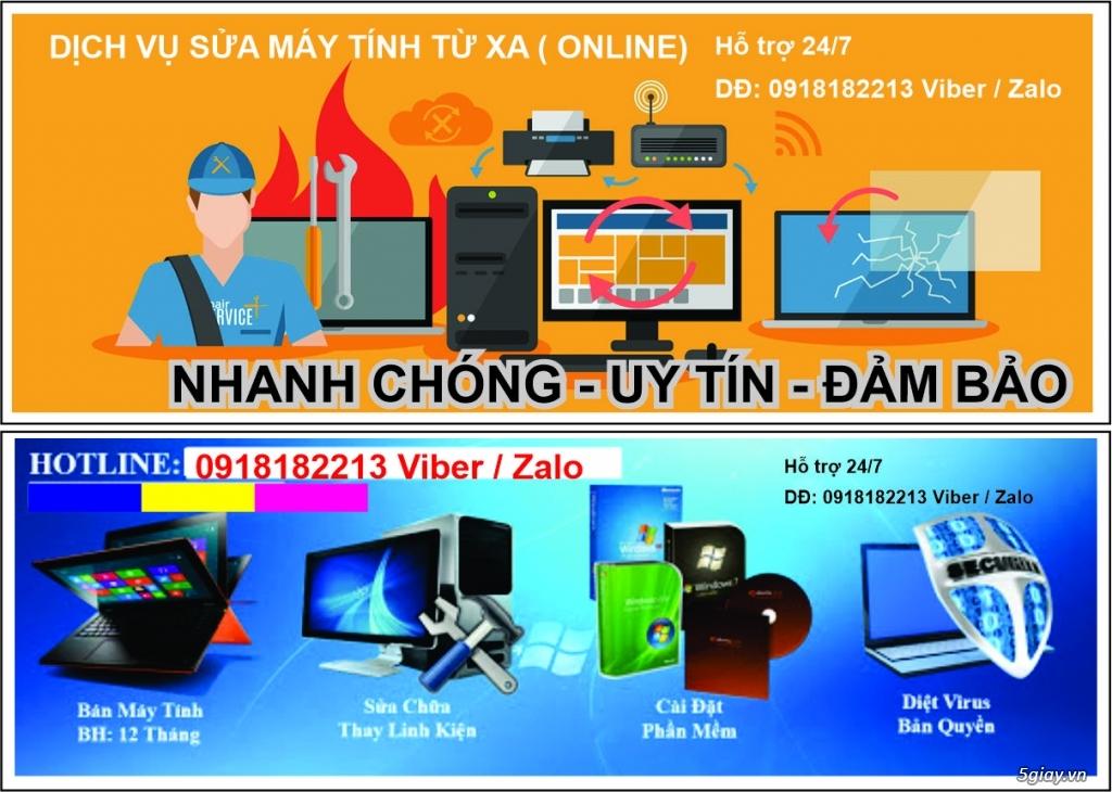 Dịch vụ sửa chữa máy tính từ xa - online - LH: 0918182213