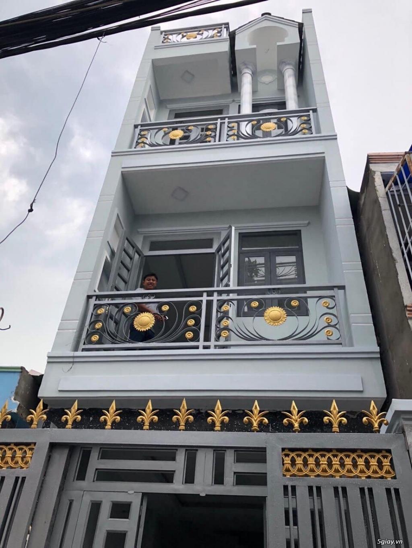 Nhà mới 4 tầng 59 m2 phường 4 quận 8 Giá 5,8ty - 0938616141