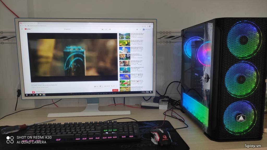 Bộ PC giá rẻ LED đẹp đồng bộ,chơi game mượt mà