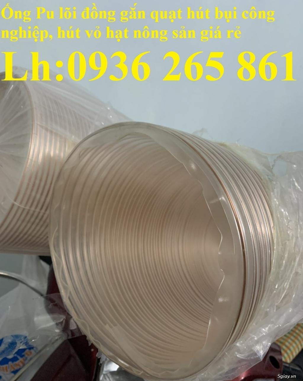 Giá ống Pu mềm lò xo lõi đồng phi120 lắp quạt hút bụi - 1