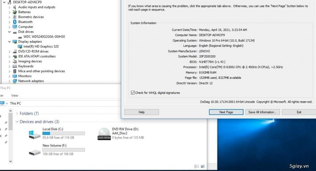 Lenovo Thinkpad L560 Core i5-6300U Ram 8GB SSD240GB VGA ON Màn 15.6 In - 4