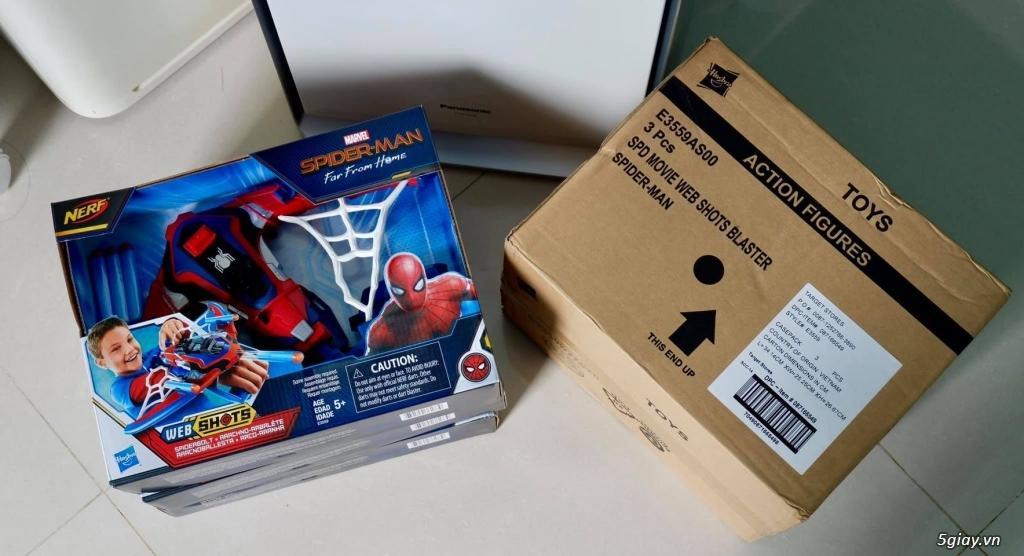 Đồ Chơi NERF Spider-Man Web Shots Spiderbolt Blaster - Hasbro Mỹ - 6