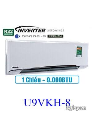 Đánh giá nhanh điều hòa Panasonic 9000BTU 1 chiều inverter U9VKH-8