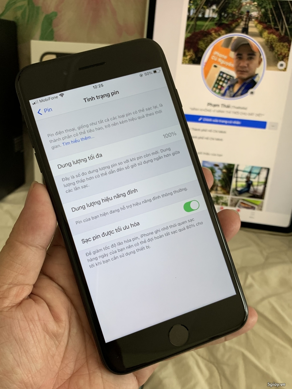 7plus 128G Black TBH 99%, Pin 100%, BH 12-2012 !!! - 3