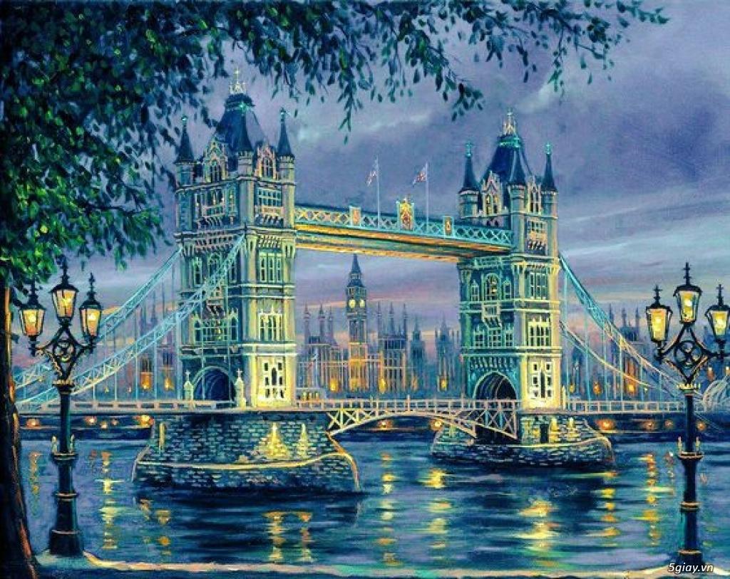 Vẽ tranh tường 3D, tranh phong cảnh châu Âu - 1