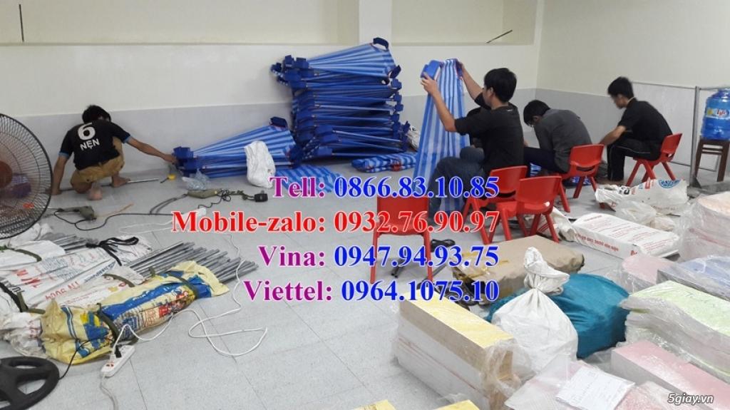 Giường ngủ mầm non giường trẻ em giá rẻ - 1