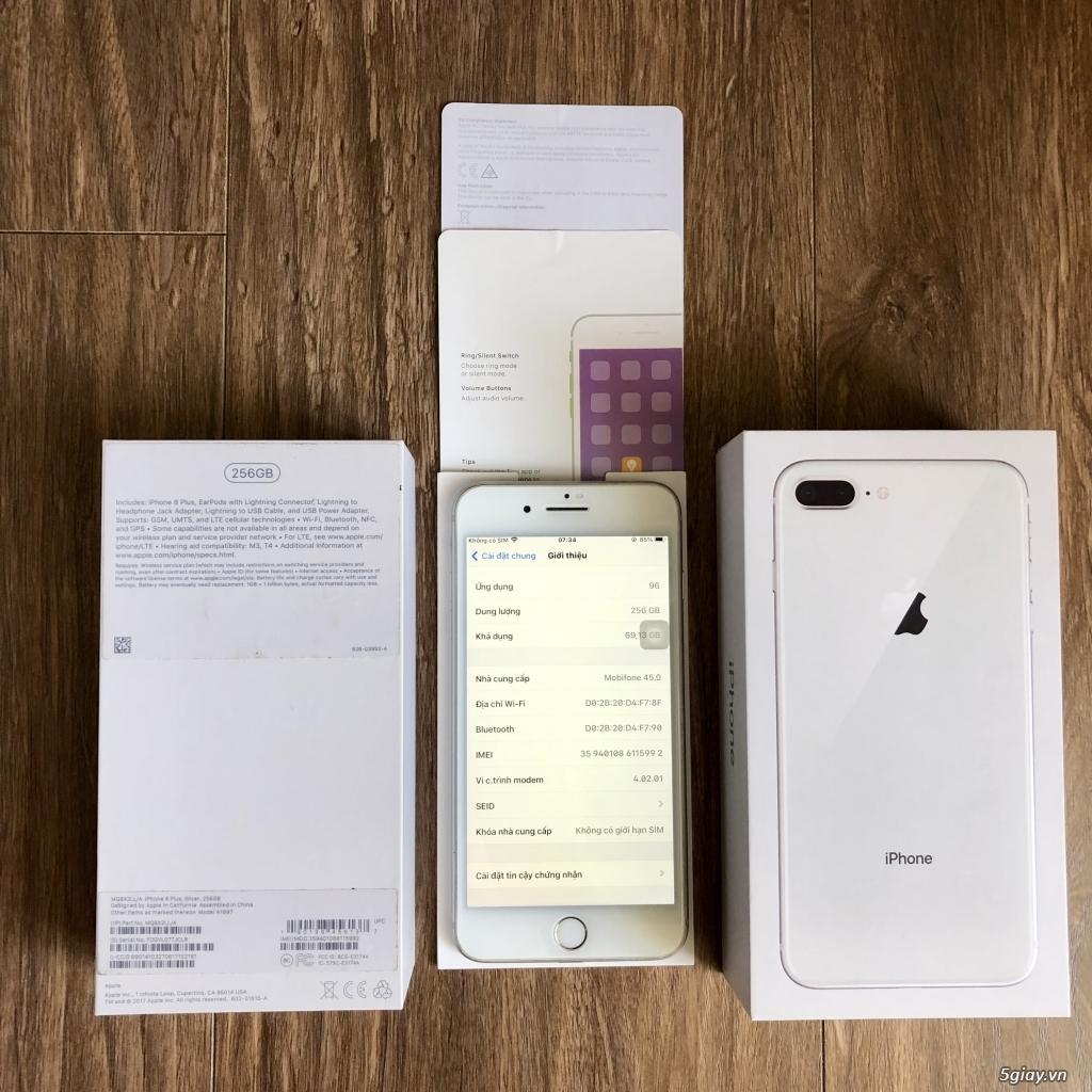 Hàng hiếm 256GB Ip 8 Plus Quốc Tế LL Zin Full Box mới 99% - 5