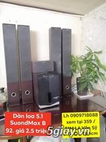 Dàn loa 5.1 SoundMAX B-92 ,LH zalo 0909718088 xem tai Q.3 - 4