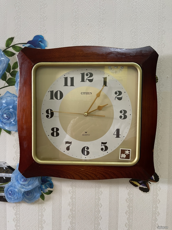 Đồng hồ treo tường nội địa Nhật CASIO, SEIKO,RYHTHM,CITIZEN,SMALLWORL - 2