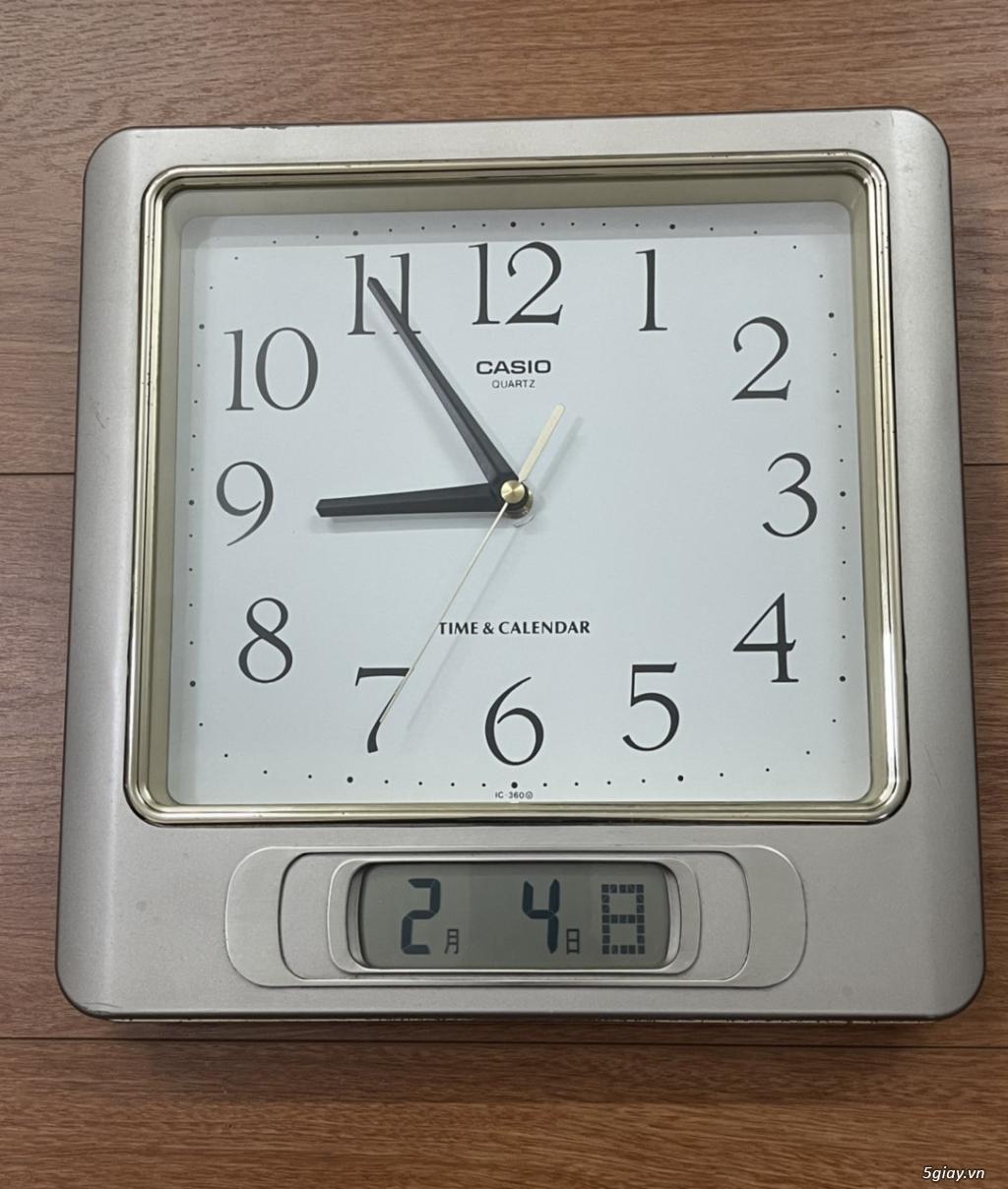 Đồng hồ treo tường nội địa Nhật CASIO, SEIKO,RYHTHM,CITIZEN,SMALLWORL - 5