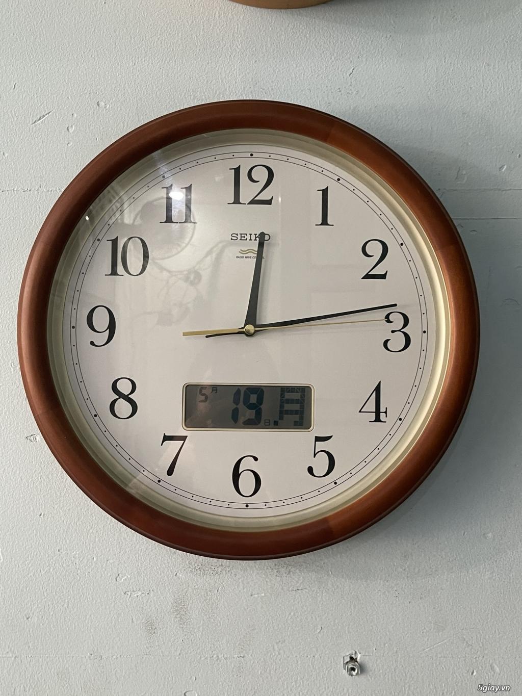 Đồng hồ treo tường nội địa Nhật CASIO, SEIKO,RYHTHM,CITIZEN,SMALLWORL - 3