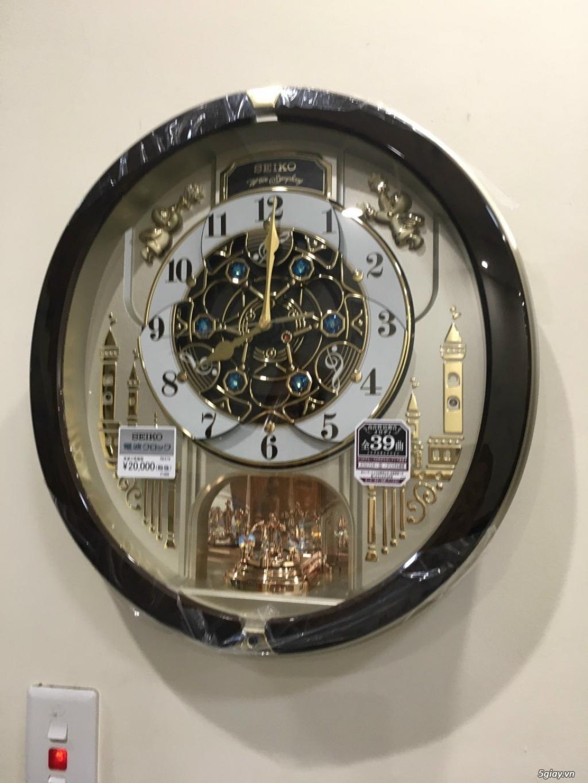 Đồng hồ treo tường nội địa Nhật CASIO, SEIKO,RYHTHM,CITIZEN,SMALLWORL - 4