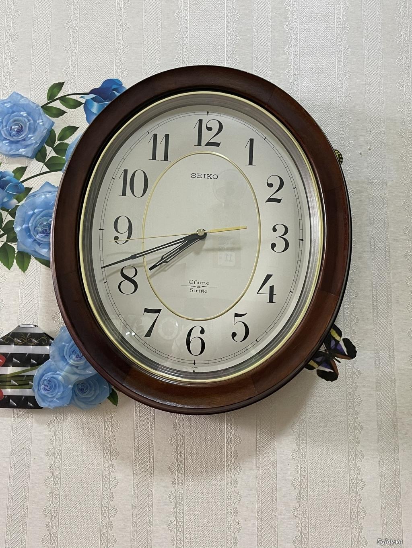 Đồng hồ treo tường nội địa Nhật CASIO, SEIKO,RYHTHM,CITIZEN,SMALLWORL - 6