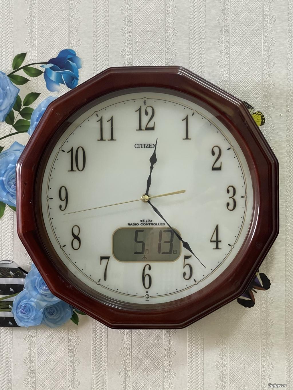 Đồng hồ treo tường nội địa Nhật CASIO, SEIKO,RYHTHM,CITIZEN,SMALLWORL - 13