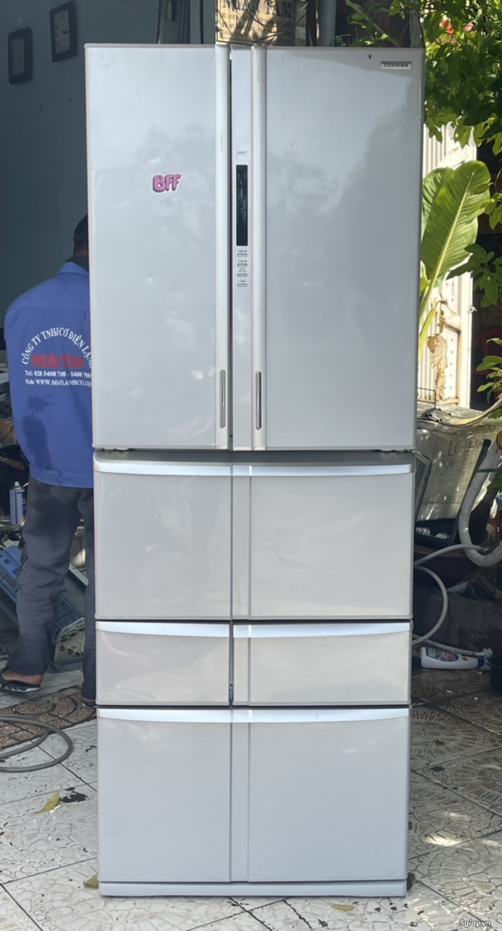 SALE: Tủ lạnh TOSHIBA 6 cánh 510L