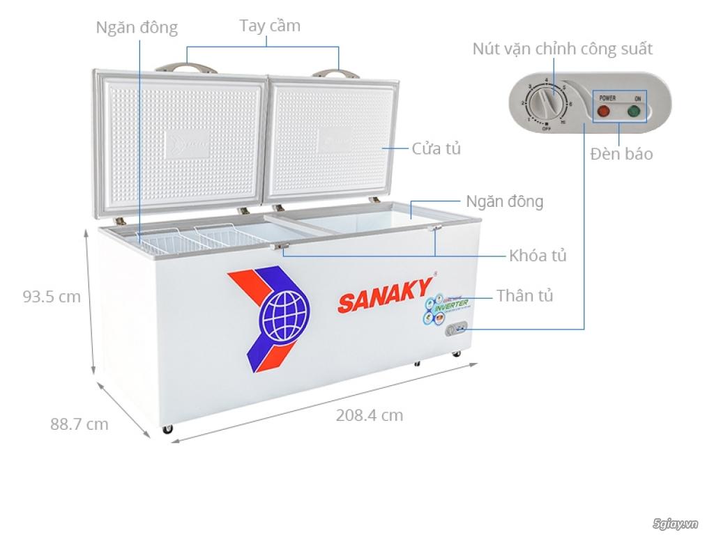 Tủ Đông Sanaky VH-8699HY3 dàn đồng Inverter - 2