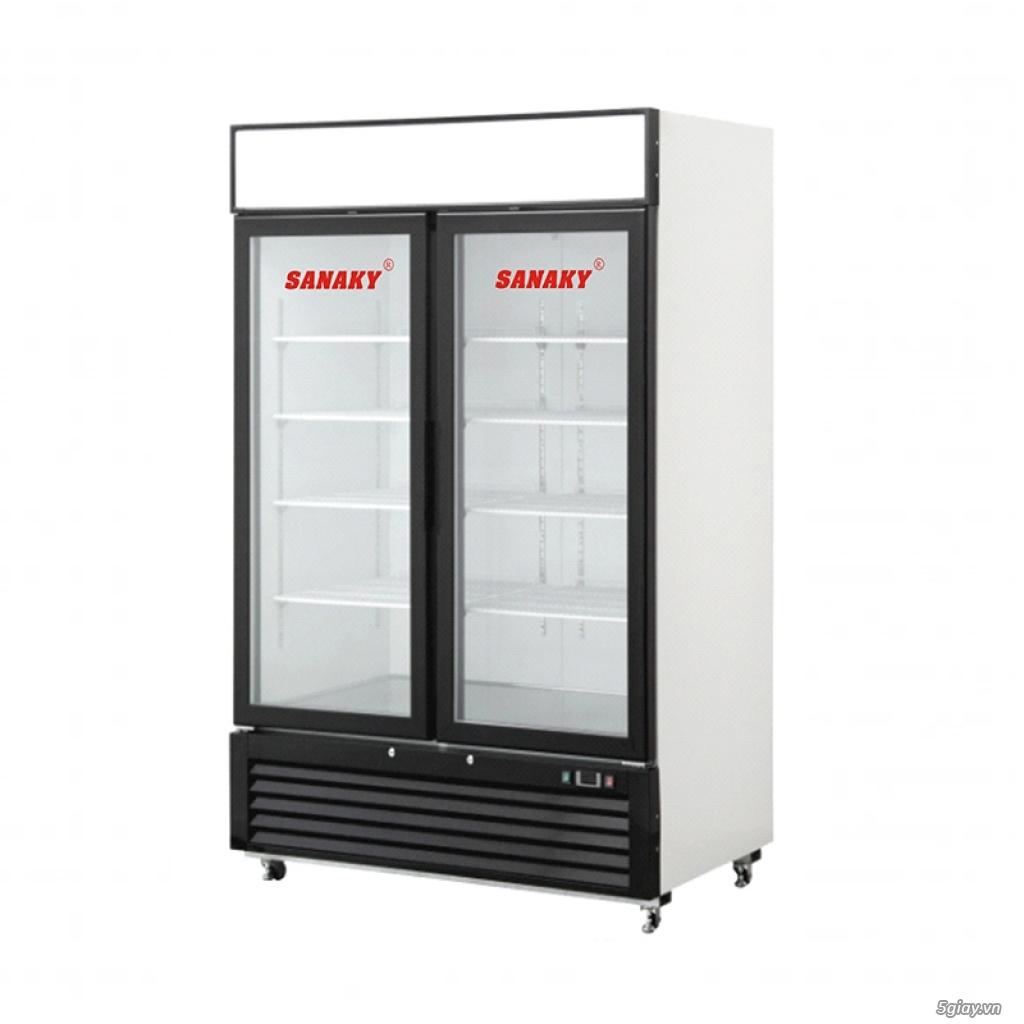 Tủ đông đứng Sanaky VH-1368K 2 cửa mở mặt kính dung tích 1320 lít