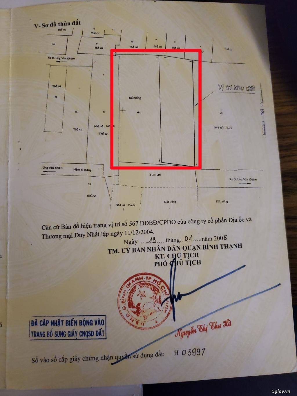 02 Lô Đất Liền Kề Hẻm Ung Văn Khiêm, P25, Bình Thạnh, 320m2