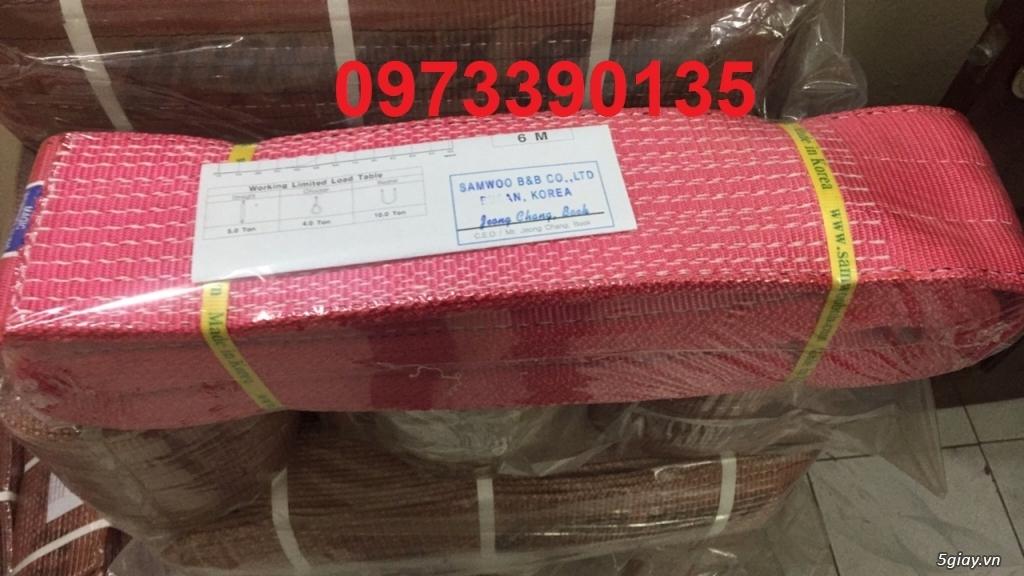 0973390135- Cáp vải cẩu hàng 5 tấn Samwoo ,Dây cẩu hàng 5 tấn Hàn Quốc