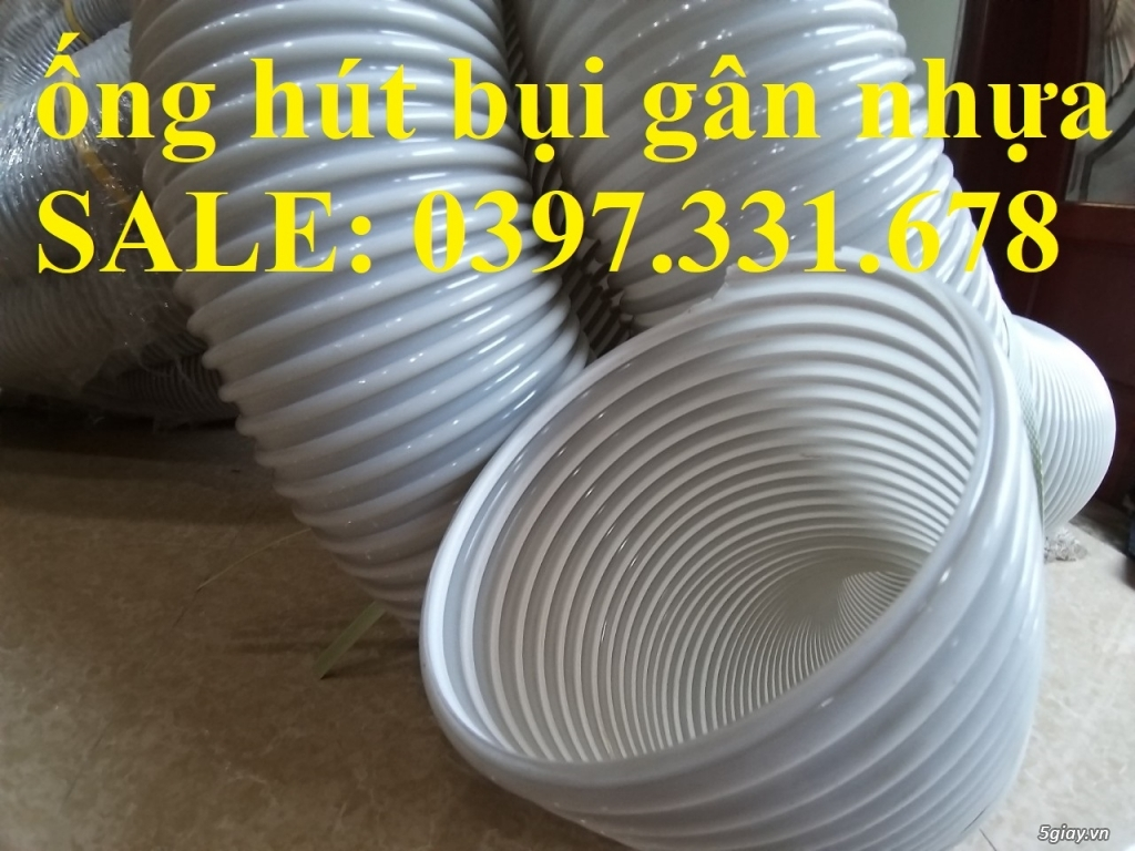 Ống Hút bụi, ống hút bụi gân nhựa, ống hút bụi công nghiệp 60 đến 250